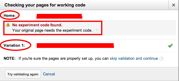 6- analytics experiments code check