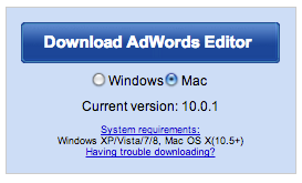 Adwords Editor 10