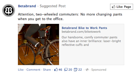 A Facebook Suggested Post From Betabrand