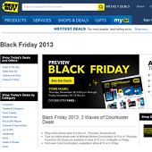 Best Buy's Black Friday Landing Page