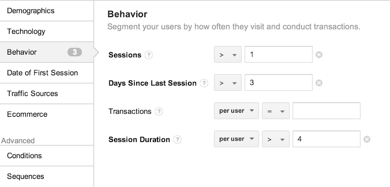 Visitor Behavior Remarketing List