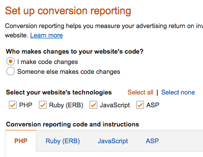 Image of conversion reporting